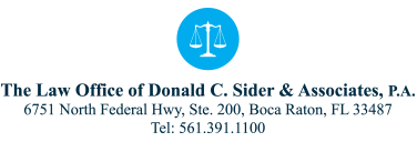 The Law Office of Donald C. Sider & Associates, P.A. Header Logo